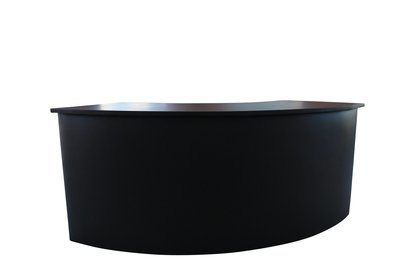 Black Curved Bar with Shelving