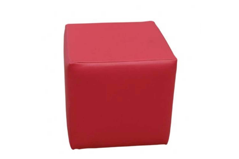 Pink Cube Ottoman