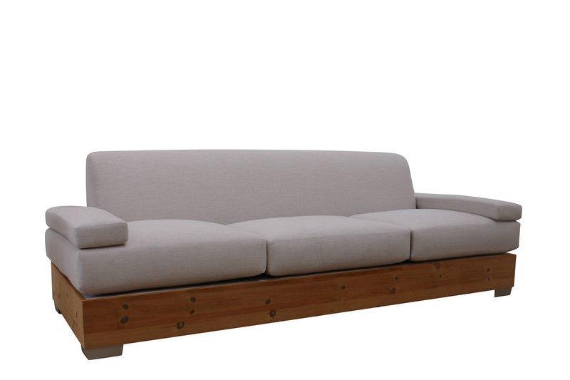 Sofa With Wood Base