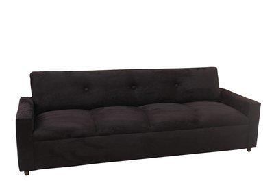 Black Suede 4 Seater Sofa
