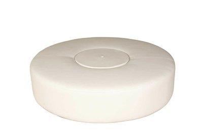 White 6' Round Ottoman