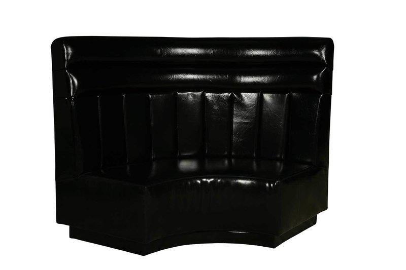 Black Patent High Back Sofa