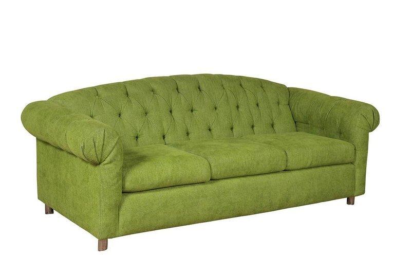 Lime Velour Sofa