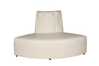 White Button Round Sofa