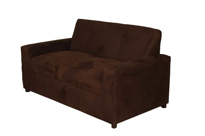 Chocolate Suede 2 Seater Loveseat