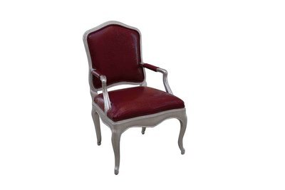 Raspberry Silver Louie Chair