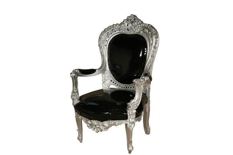 Silver Black Louie Chair