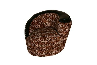 Leopard Round Chair