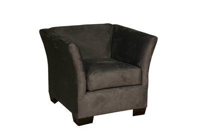 Charcoal Suede Chair