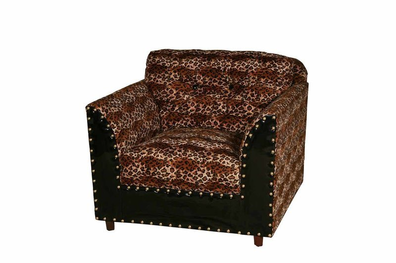 Leopard Square Chair
