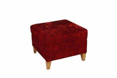 Red Velvet Ottoman