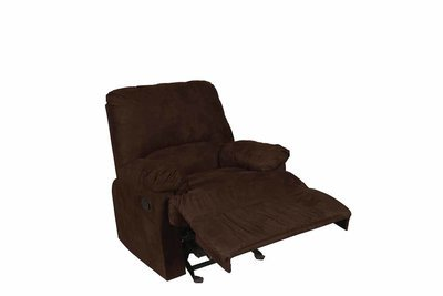 Chocolate Suede Recliner