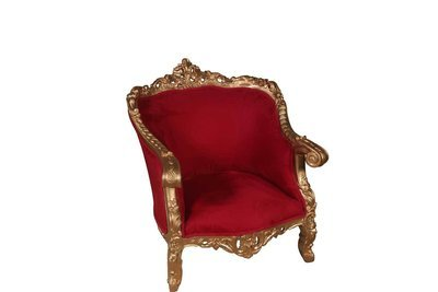 Gold Red Louie Chair-S