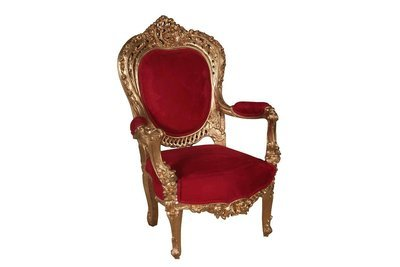 Gold Red Louie Chair-T