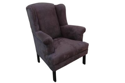 Charcoal Queen Anne Chair