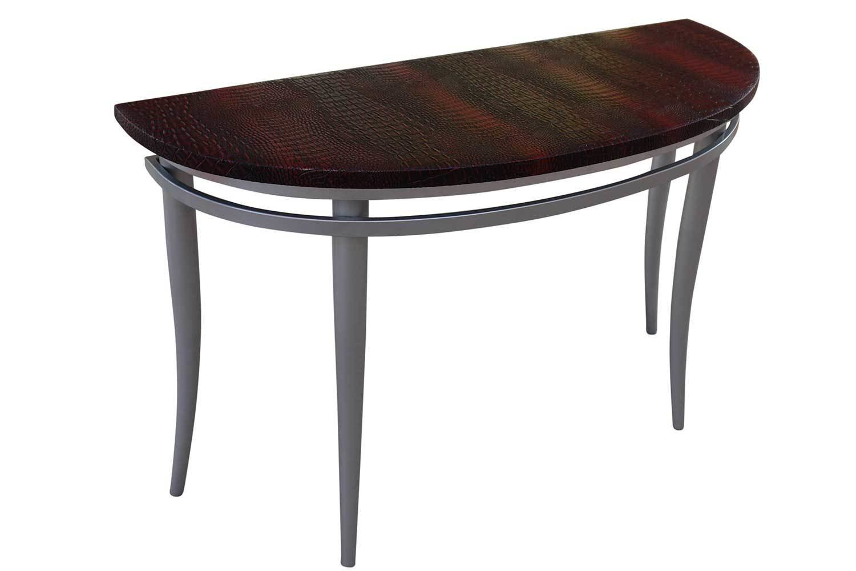 Cherry Steel Sofa Table