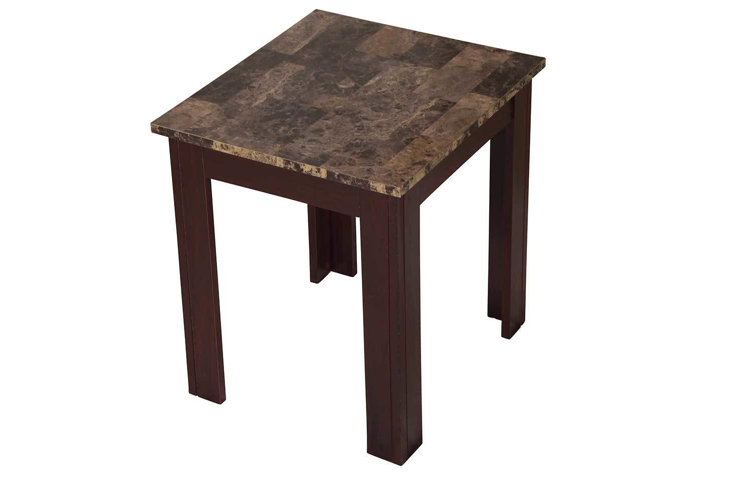 Brown Marble Accent Table