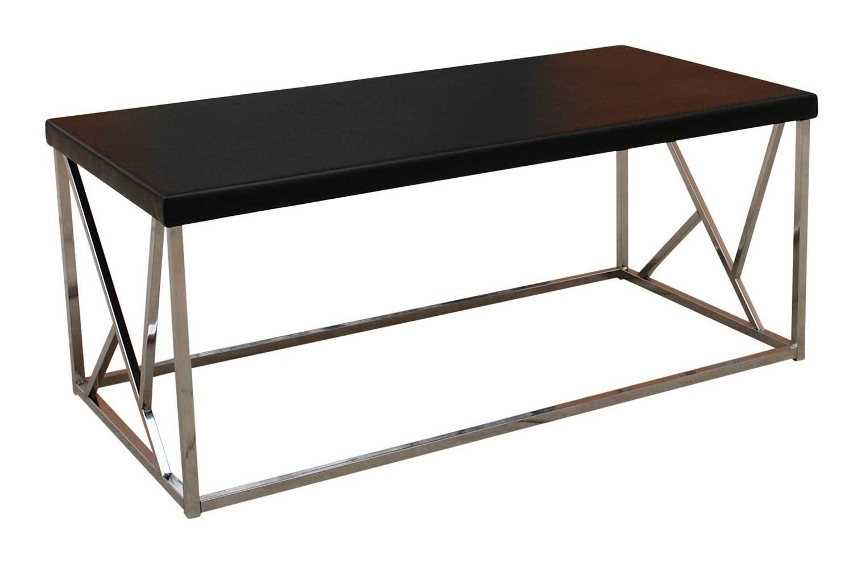 Black Chrome Coffee Table