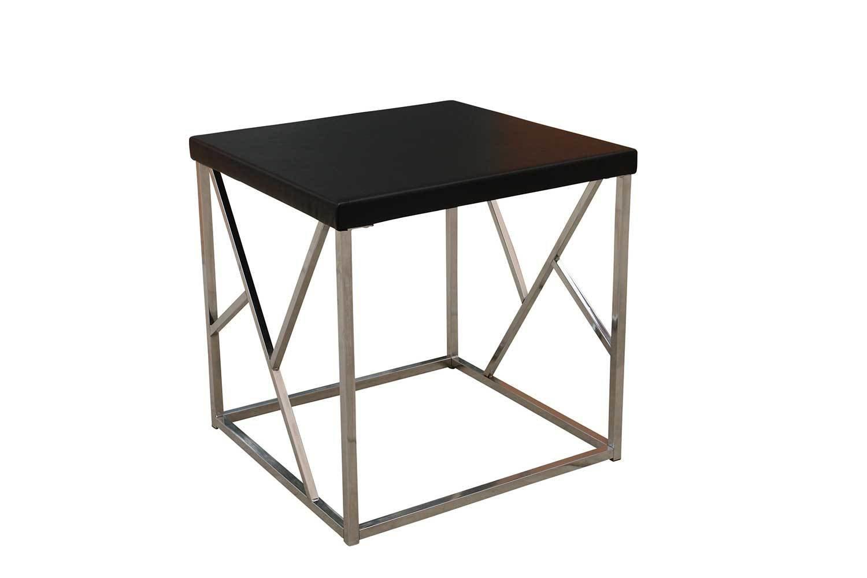Black Chrome Accent Table
