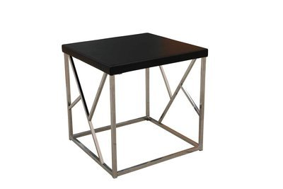 Black Chrome Accent Table