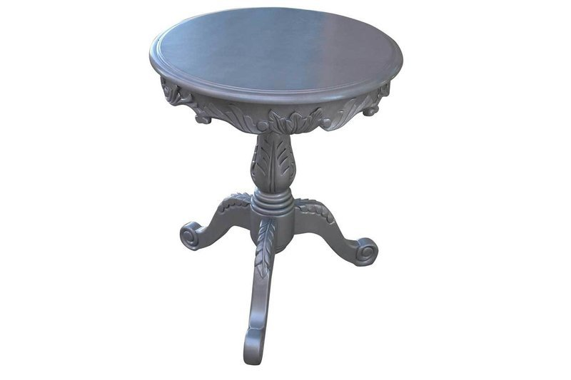 Silver Antique Accent Table