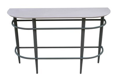 White Steel Sofa Table