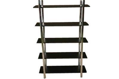 Black Steel 5 Shelf Etagere