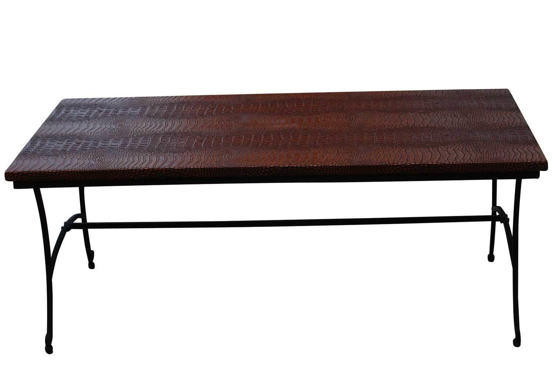 Black Crocodile Coffee Table