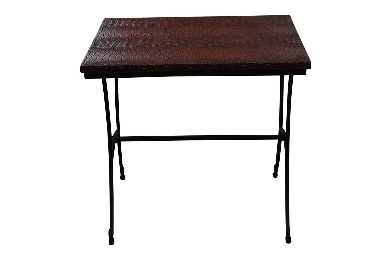 Black Crocodile Accent Table