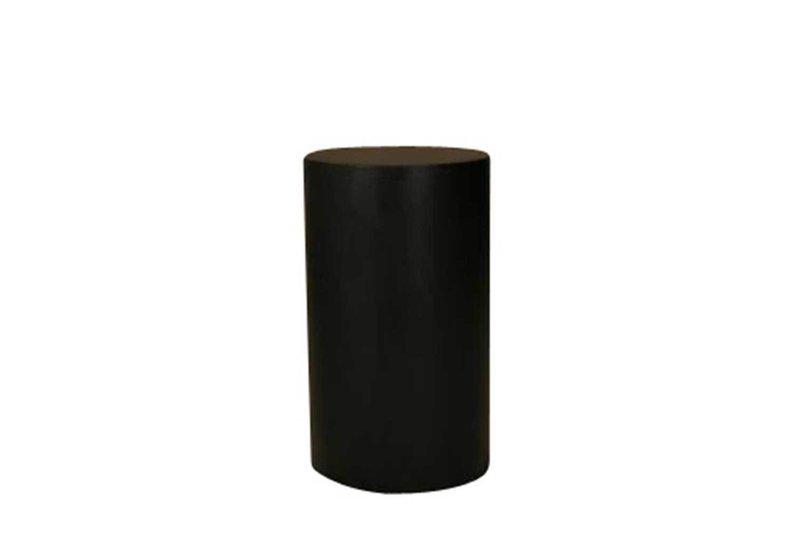 24x30 Black Round Pedestal