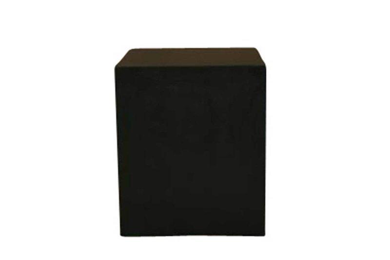 30x30x36 Black Cube Pedestal