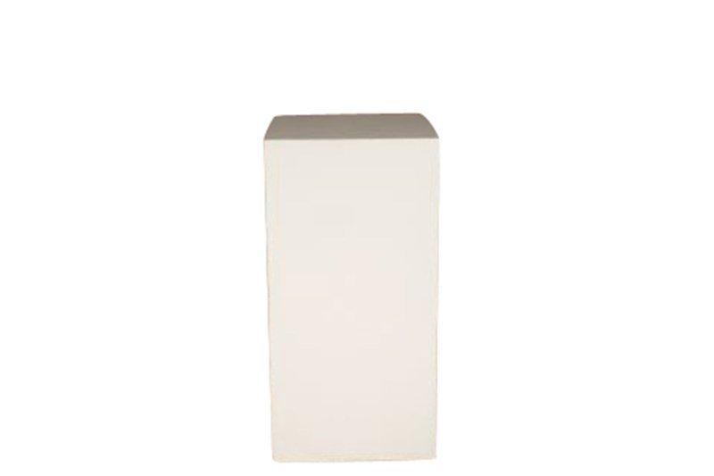 18x18x32 White Cube Pedestal