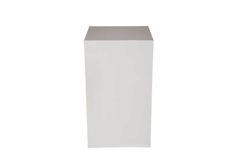 18x18x36 White Cube Pedestal