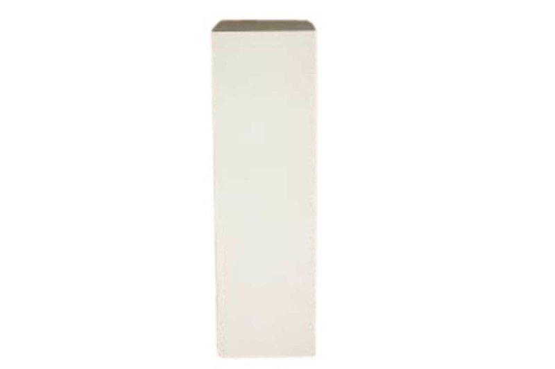 12x12x42 White Cube Pedestal
