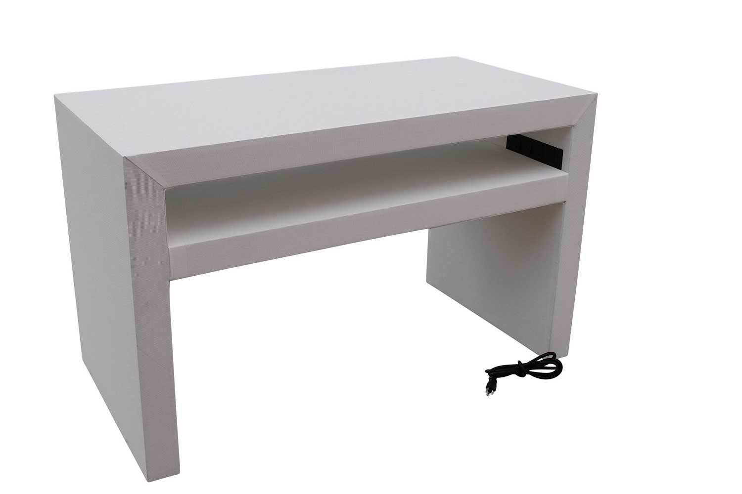 White Charging Console Table