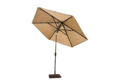 Tan Umbrella with Base