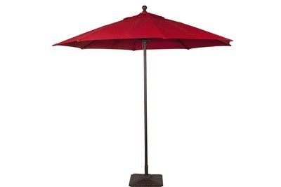 Red Umbrella with Base