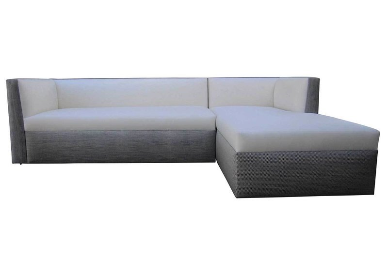 Left Arm Facing Tight Seated Sofa With Chaise