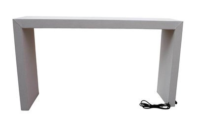 Charging  Bar Height Waterfall Table