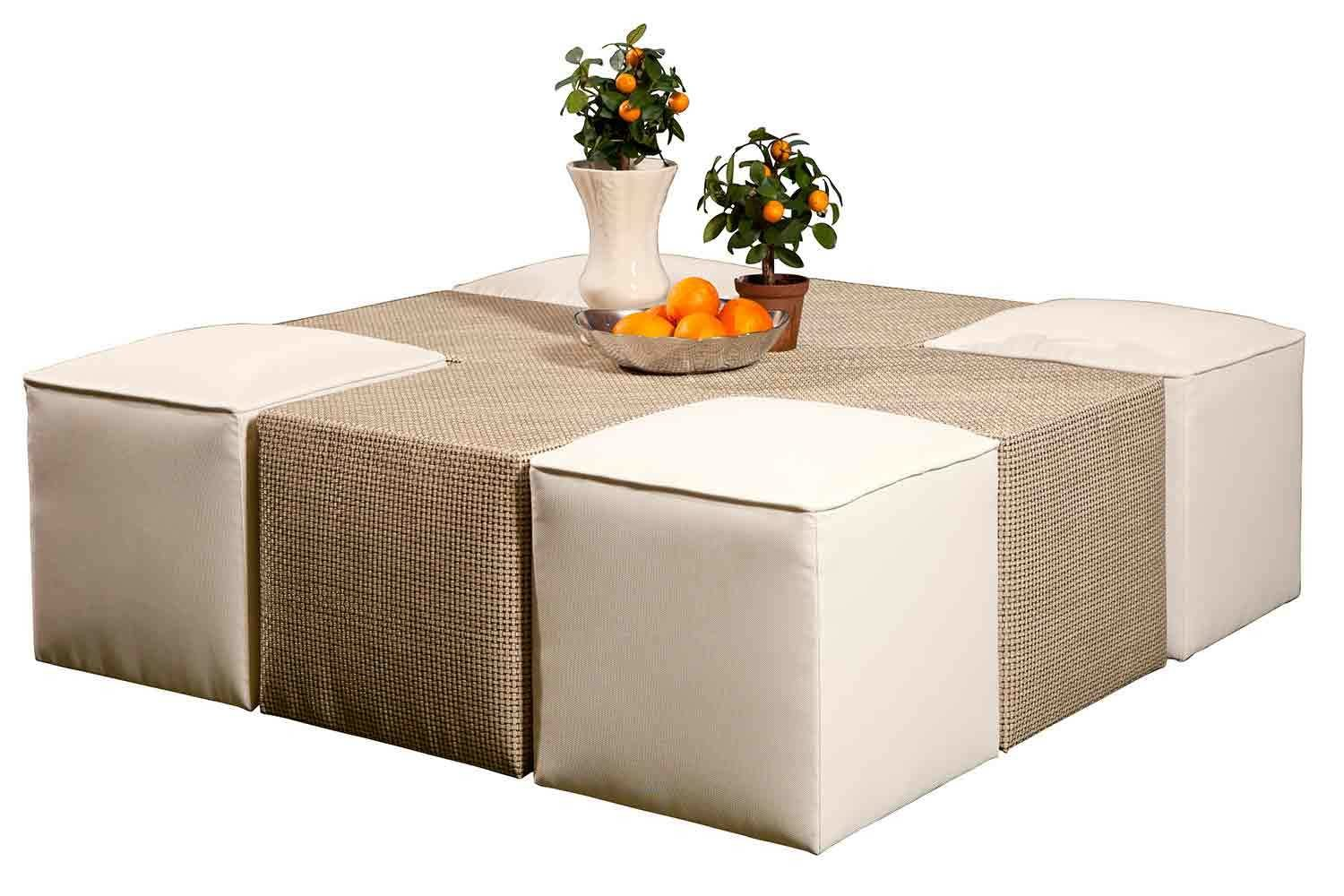 Cross Table And Ottomans