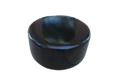 Black Patent 36inch Ottoman