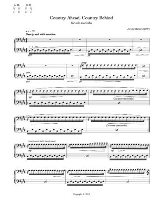 Country Ahead, Country Behind (marimba)