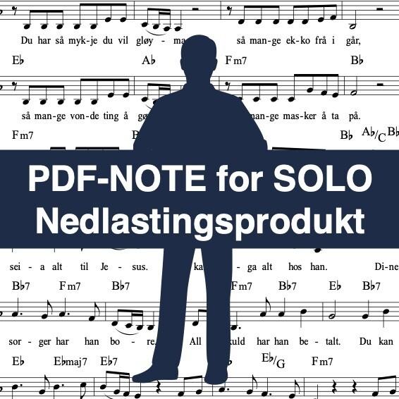 Frykt ikkje for i morgon (noter for solostemme) - Nedlastingsprodukt: PDF