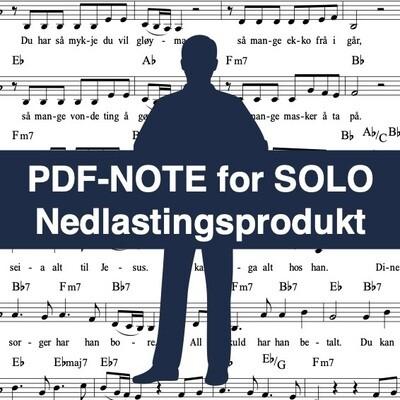 Han løfter deg or juvet (noter for solostemme) - Nedlastingsprodukt: PDF