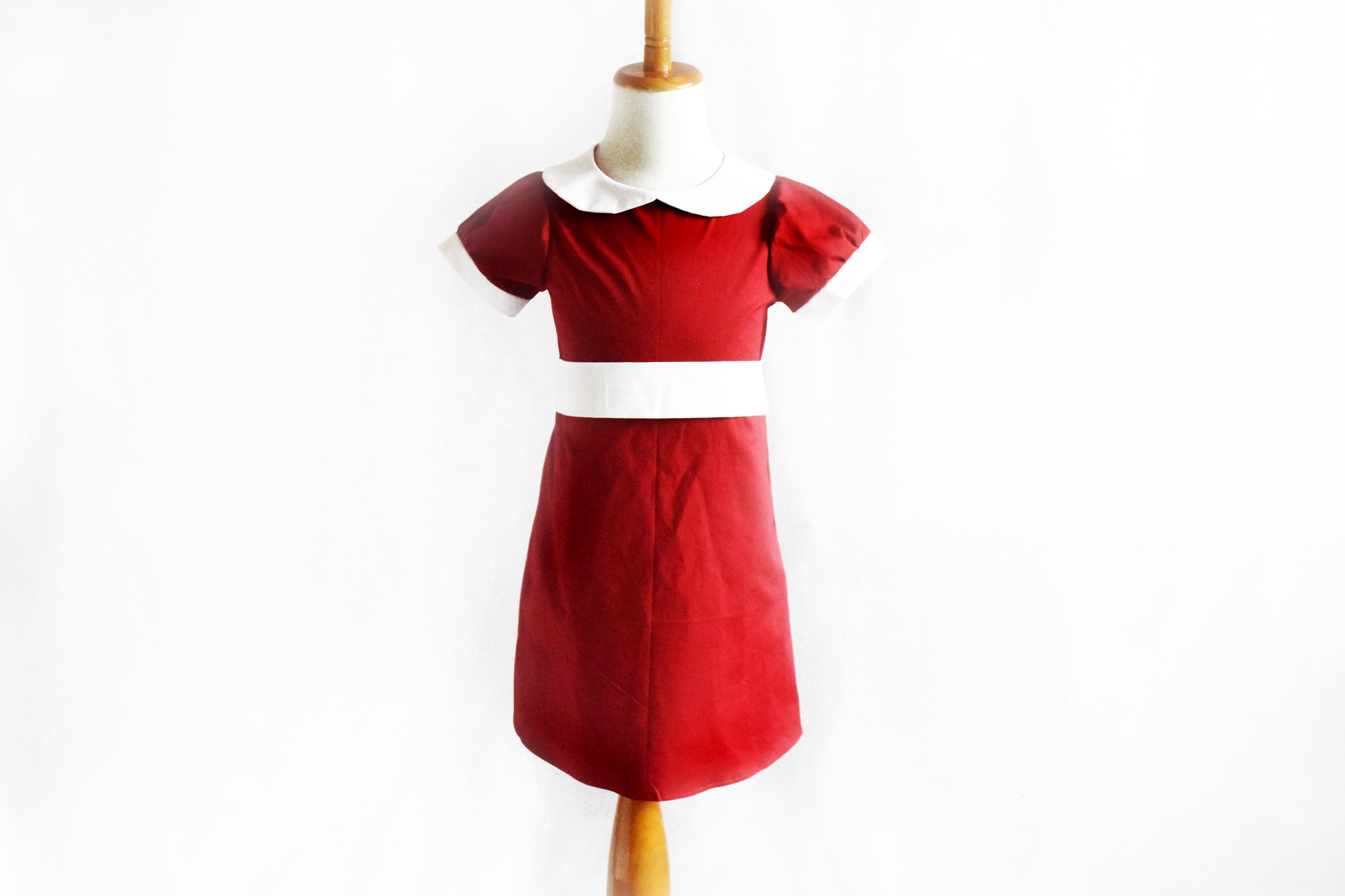 Orphan Annie Inspired Red Dress Costume