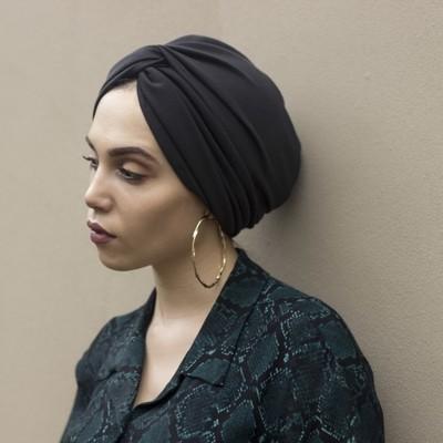 Barbett Cortrelli Twist Front Turban in Black