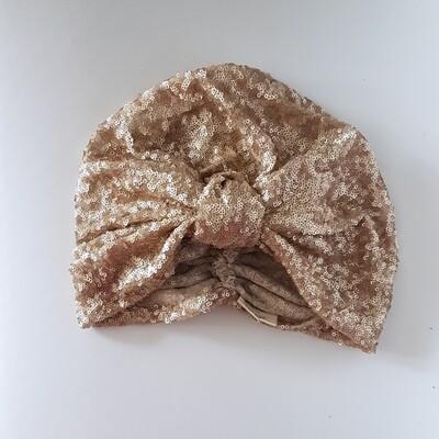 Barbett Cortrelli Gold Sequin Turban