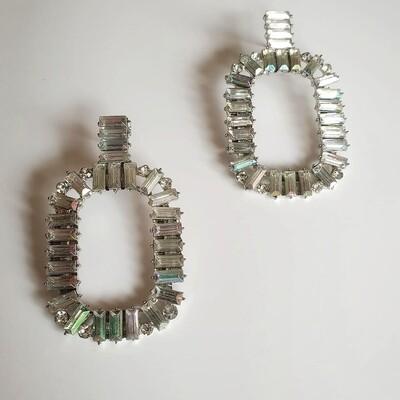 Silver Rhinestone Earring