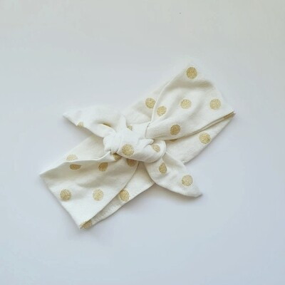 Gold Polka Dot Headband