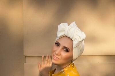 Barbett Cortrelli Dahlia Turban in Ivory